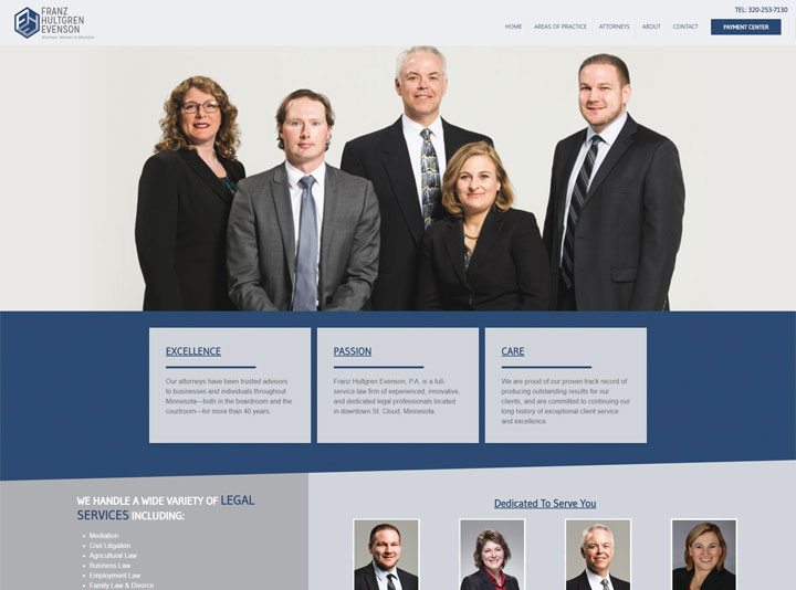 Franz Hultgren Evenson Attorneys Website