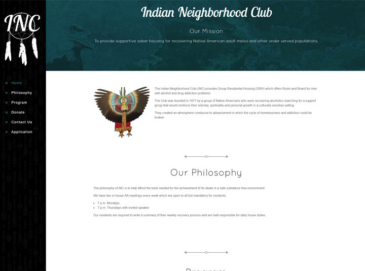 Indian Neighborhood Club Website