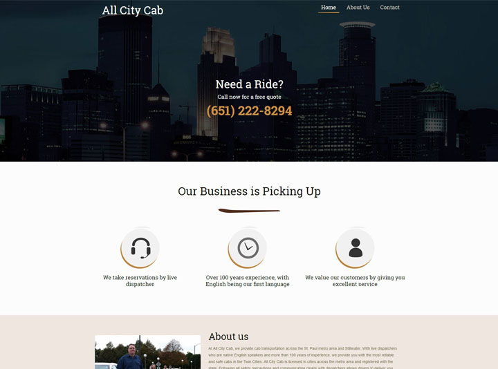 All City Cab Website