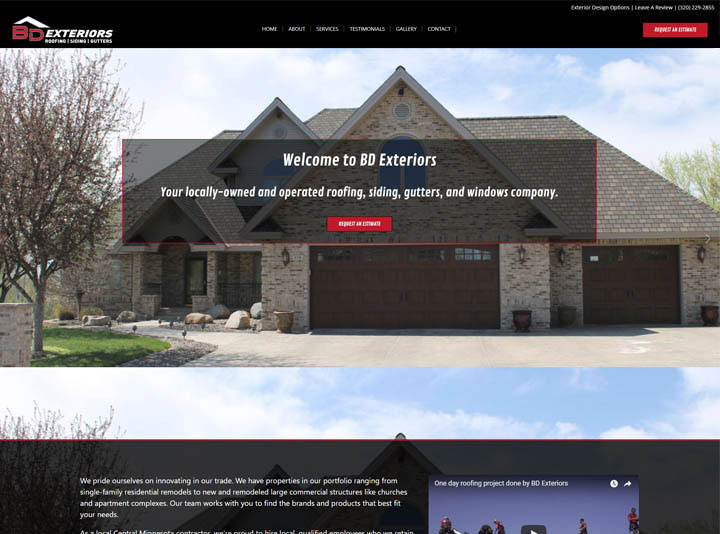BD Exteriors Website