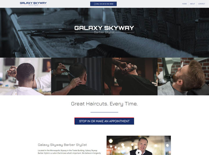 Galaxy Skyway Barber Stylist Website