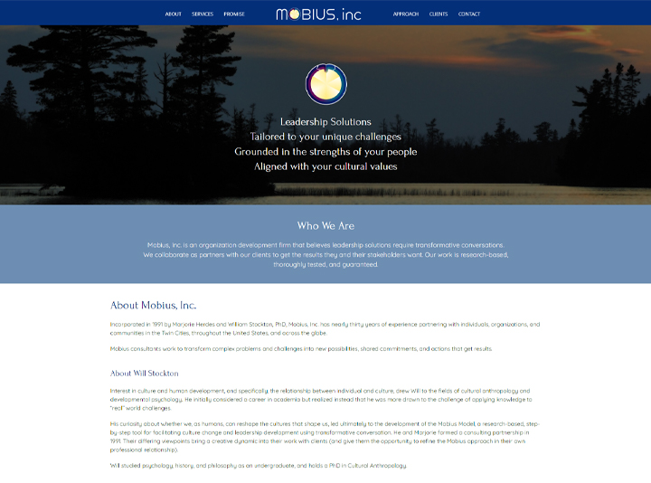 Mobius Model Website