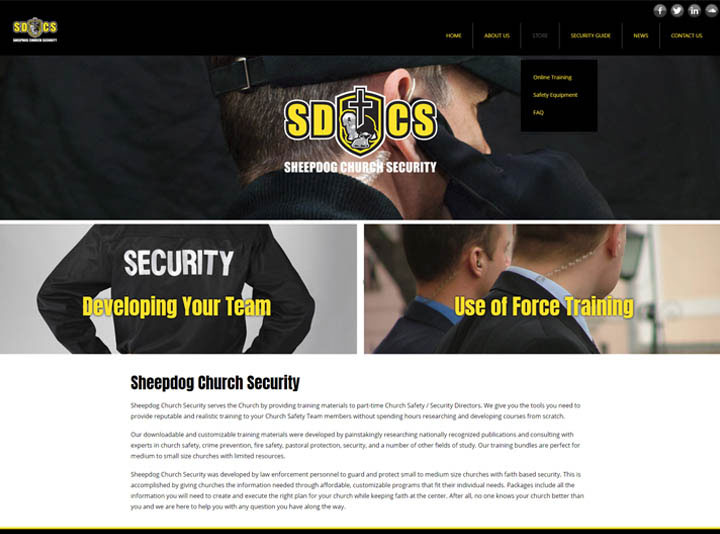 Sheepdog Church Security Website