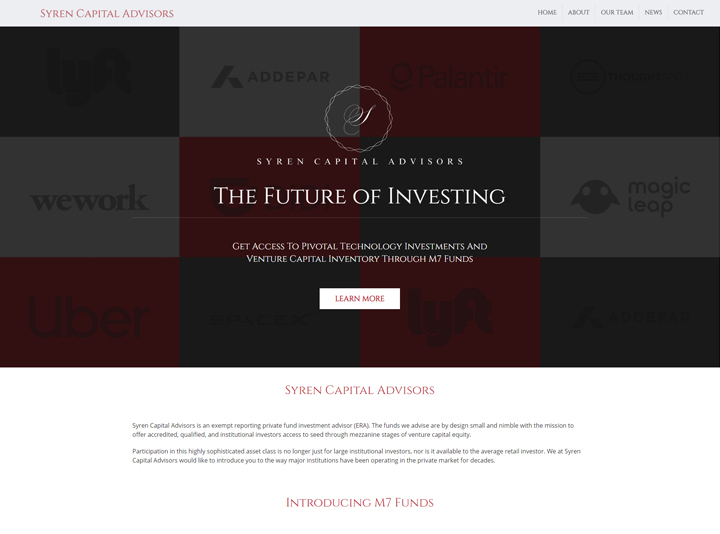 Syren Capital Advisors Website